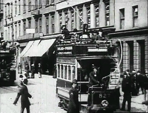 Still frame from 'Glasgow Trams'