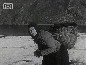 Still frame from 'A Crofter's Life in Shetland Clip 5: A Crofter's wife'