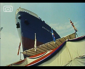 Still frame from 'Seawards the Great Ships'