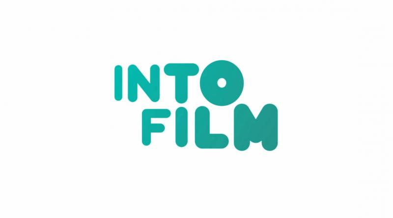 Into Film logo turquoise blue text on white background