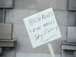 Still image from Clydebank's Rents Protest